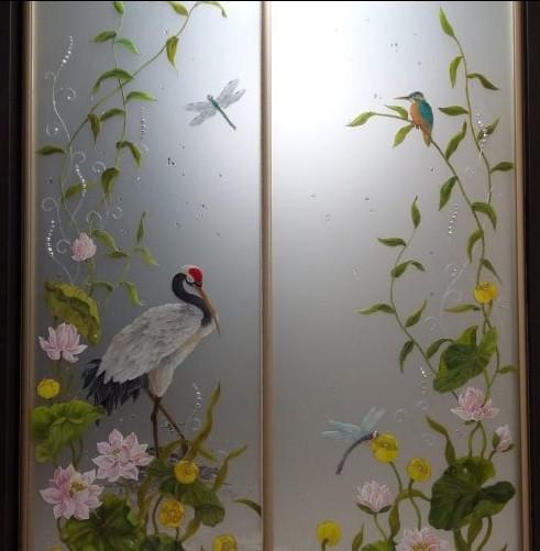 шкаф купе с художественной росписью