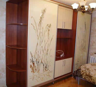 Шкаф купе в спальню с телевизором
