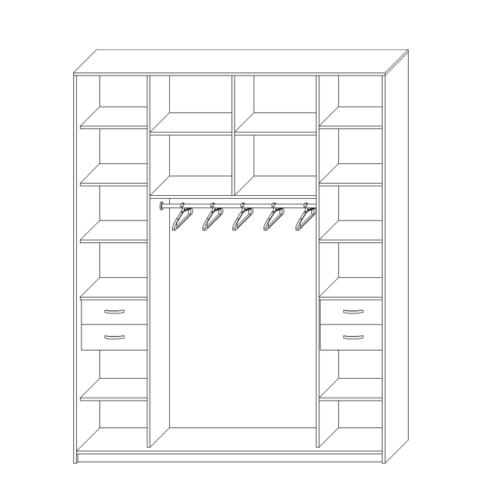 Шкаф купе в спальню двухдверный