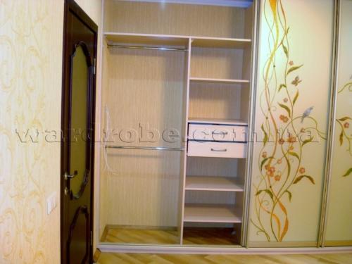 шкаф купе с художественной росписью, левая сторона