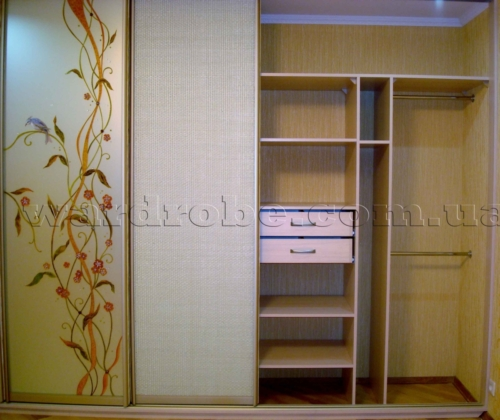 шкаф купе с художественной росписью, правая сторона