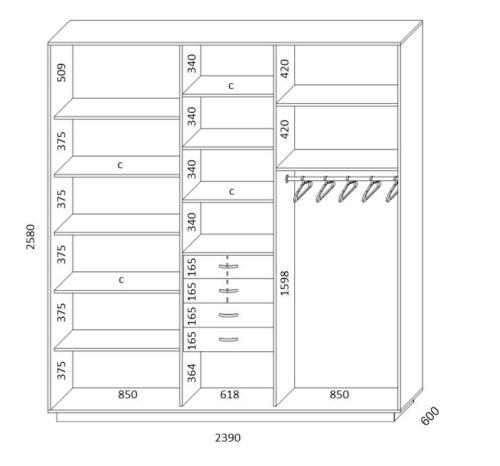 проект шкафа купе для спальни