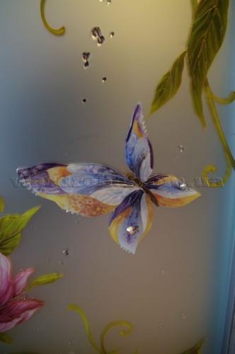 бабочка с кристалами Сваровски