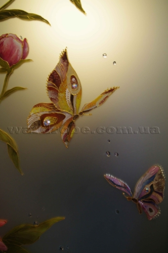 бабочки на стекле сатин (1)